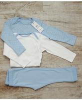 Набор 2 боди + брюки (голубой)