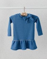 Платье с люрексом (синее)
