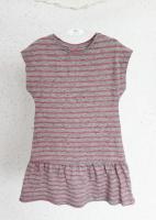 Платье (серое с розовой полоской)
