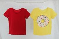 """Набор футболок """"Пончик"""" (желтая, красная)"""