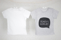 "Набор футболок ""Always Hungry"" (серый, белый)"