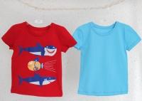 """Набор футболок """"Акулы""""  (голубая, красная)"""