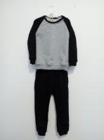 Спортивный костюм (черный,серый)