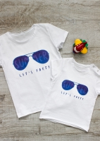 "Футболка ""Summer, let`s party"" (белый)"