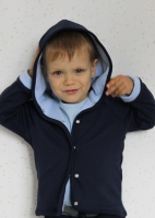 Толстовка двухсторонняя с капюшоном (синий, голубой)