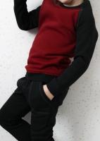 Спортивный костюм с начесом (вишня, графит)